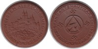 Drittes Reich braune Porzellanmedaille Standartenaufmarsch Meissen, Standarte 101