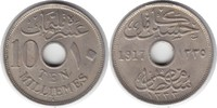 Ägypten 10 Milliemes Hussein Kamil (AH1332-1335) 1914-1917 H