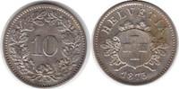 10 Rappen 1873 Schweiz Eidgenossenschaft B Fleckig, vorzüglich +  85,00 EUR  +  5,00 EUR shipping