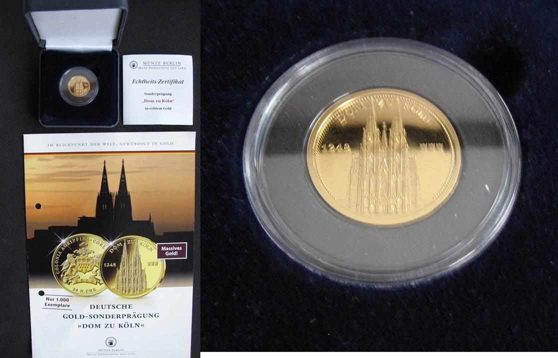 Bundesrepublik Deutschland Sonderprägung Der Münze Berlin In Gold