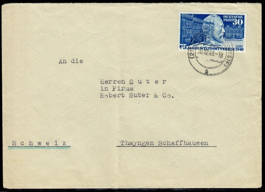 30 Pfg 1949 Bundesrepublik Deutschland Hvstephan Auf