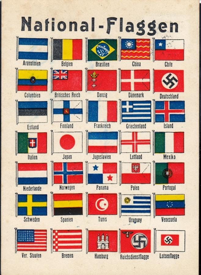 1938 deutsches reich propaganda 35 nationalflaggen europa