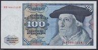 Deutschland 100 DM Sebastian Münster, Serie NH ohne Copyright, bankfrisch/kassenfrisch