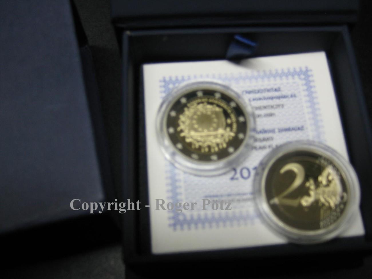 2 Euro 2015 GRIECHENLAND 2 Euro Sondergedenkmünze 2015 Europaflagge 1. Jahrgang in PP nur 1500 Exemplare PP ( polierte Platte ) OVP