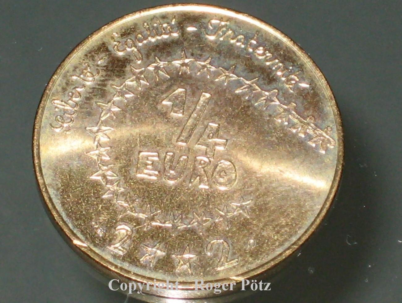 0,25 Euro 2002 FRANKREICH 0,25 Euro 2002 Kindereuro im Blister OVP stempelglanz