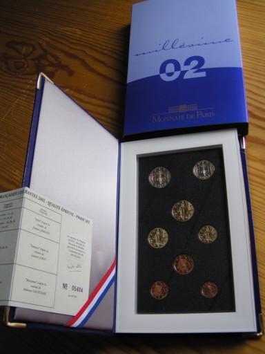3,88 Euro 2002 Frankreich Kursmünzensatz 2002 polierte Platte PP