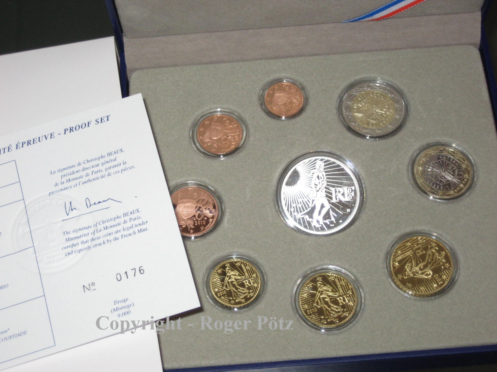 18,88 Euro 2010 Frankreich 18,88 Euro Kursmünzensatz 2010 in PP nur 9.000 Ex. Auflage ausverkauft PP ( polierte Platte )