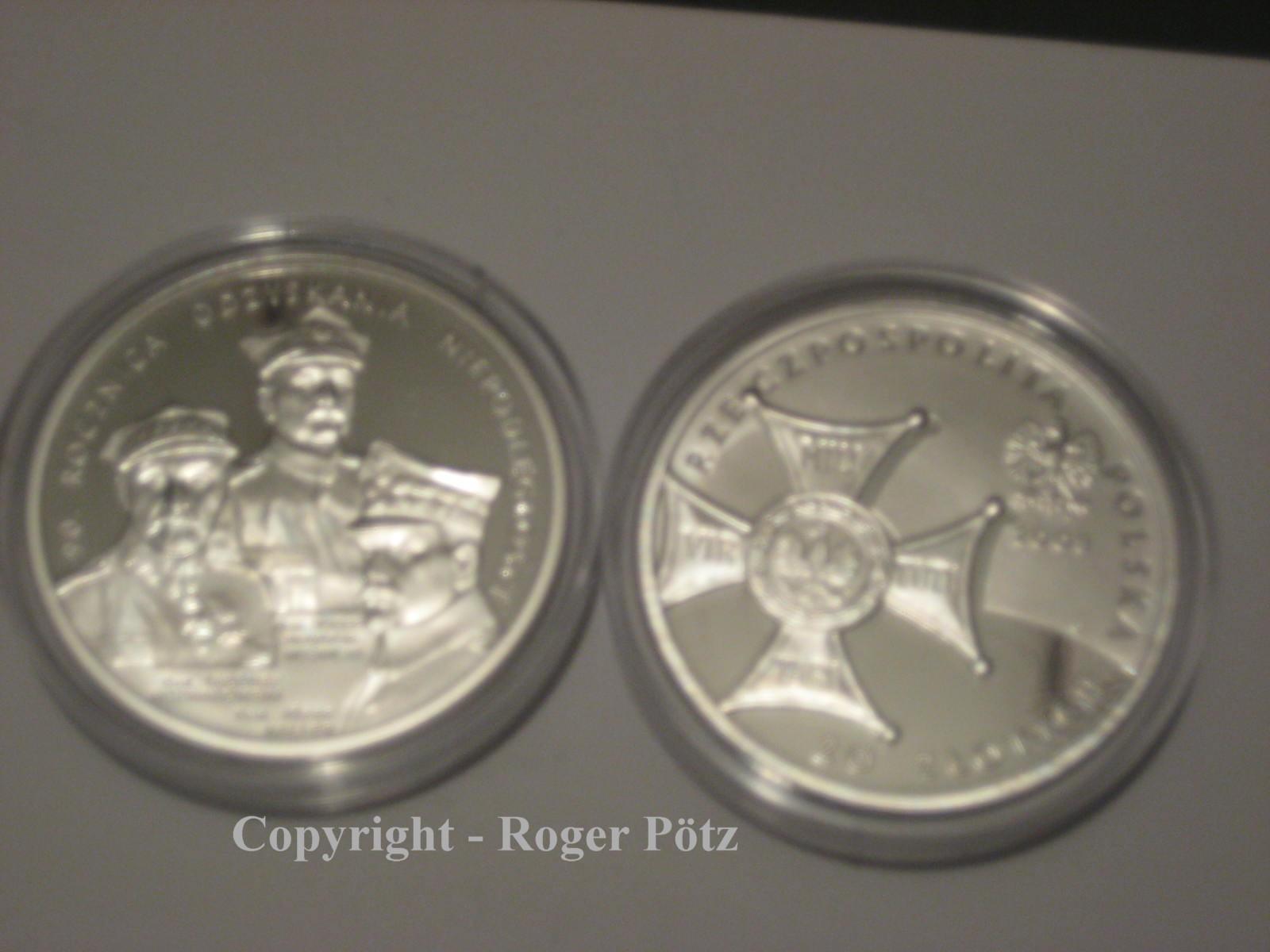 20 Zloty 2008 Polen 20 Zloty 2008 Unabhängigkeit 90. Jahrestag Silber PP PP