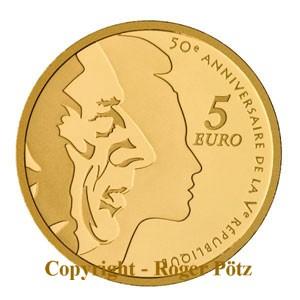 5 Euro 2008 Frankreich 5 Euro 2008 Säerin Gold PP PP