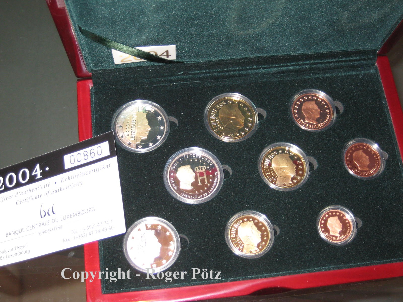 5,88 Euro 2004 LUXEMBURG 5,88 Euro KMS Kursmünzensatz Luxemburg 2004 PP nur 1500 Ex. Auflage PP