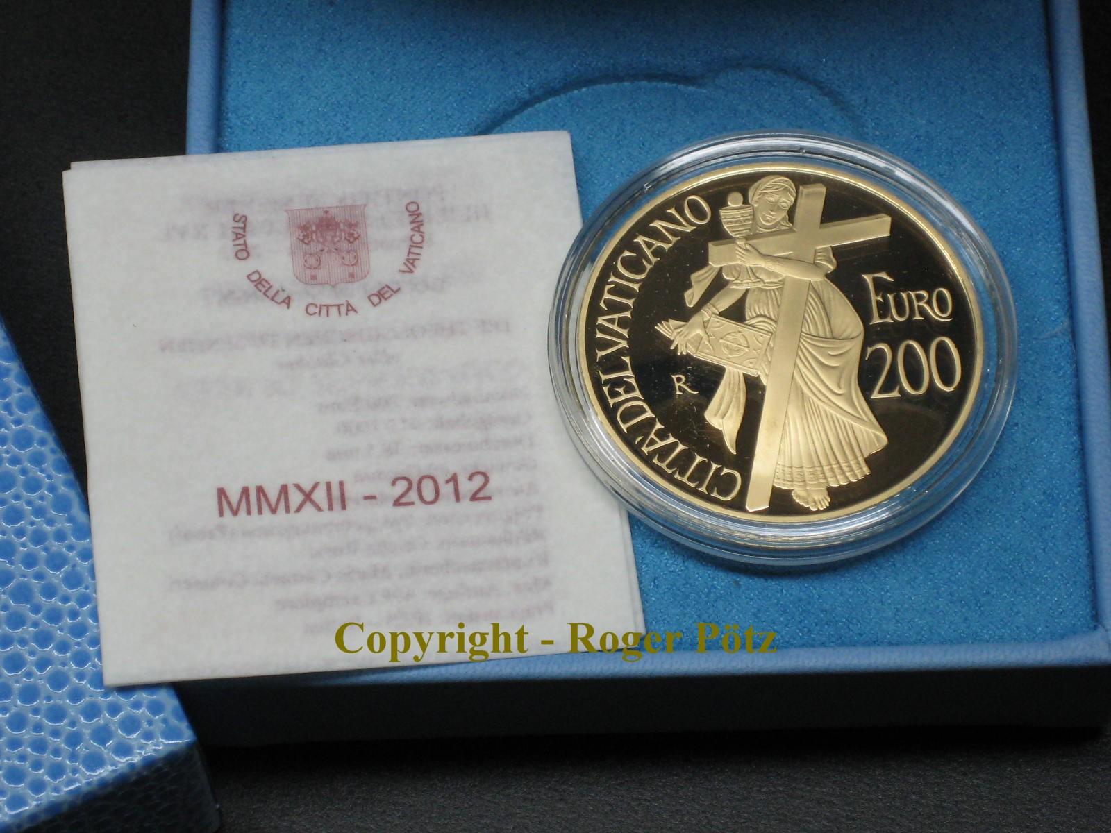 200 Euro 2012 VATIKAN 200 Euro 2012 Der Glauben Gold PP OVP wie ausgegeben nur 499 Exemplare Auflage PP