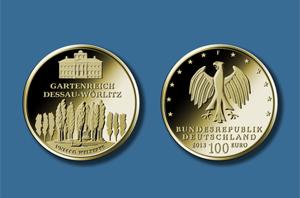 100 Euro 2013 DEUTSCHLAND 100 Euro Gold 2013 UNESCO Dessau Prägestätte D München stempelglanz