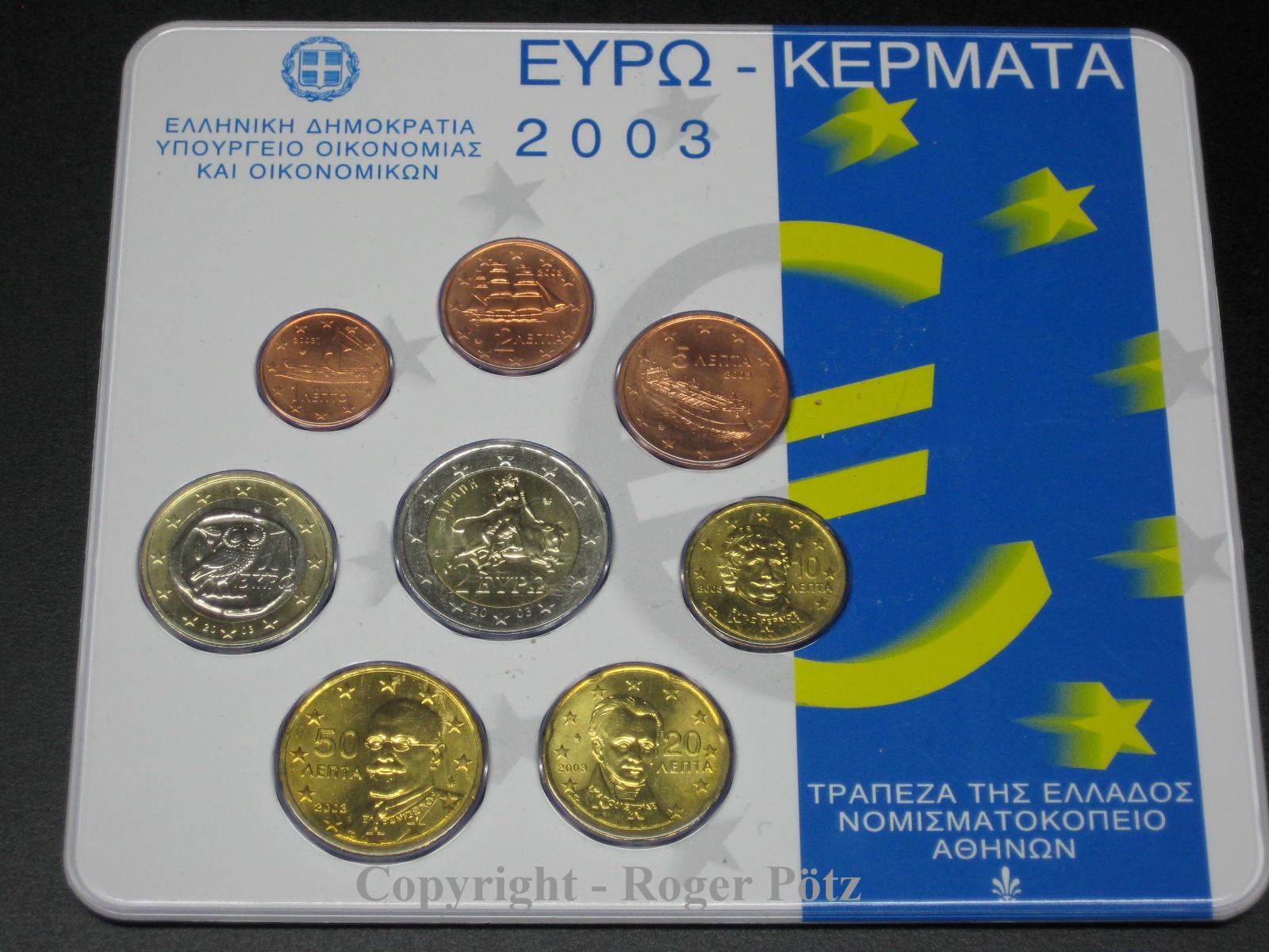 3,88 Euro 2003 GRIECHENLAND 3,88 Euro 2003 Original KMS im Blister st st