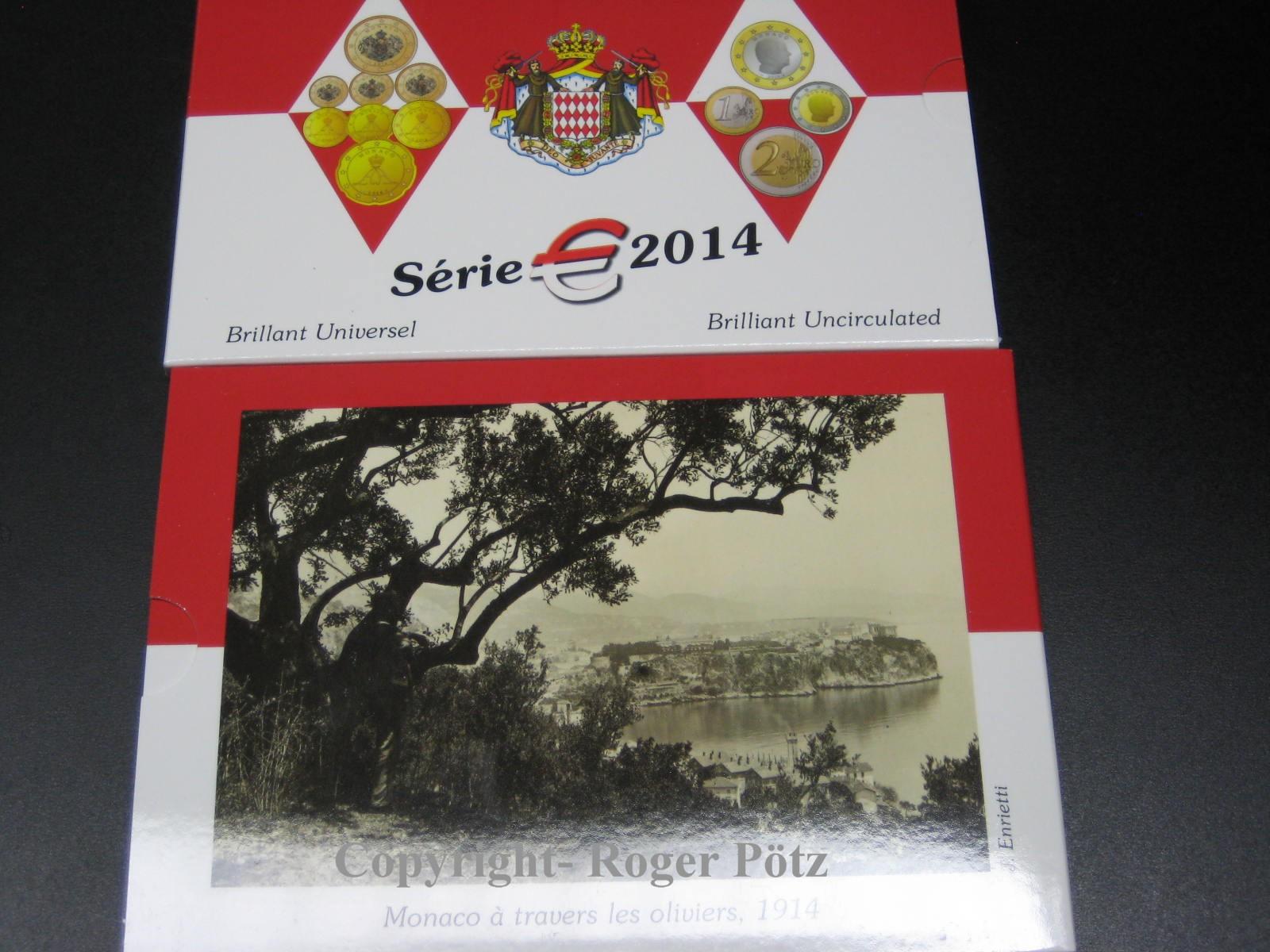 3,88 Euro 2014 MONACO 3,88 Euro KMS 2014 Kursmünzensatz st im Originalfolder Top-Preis st