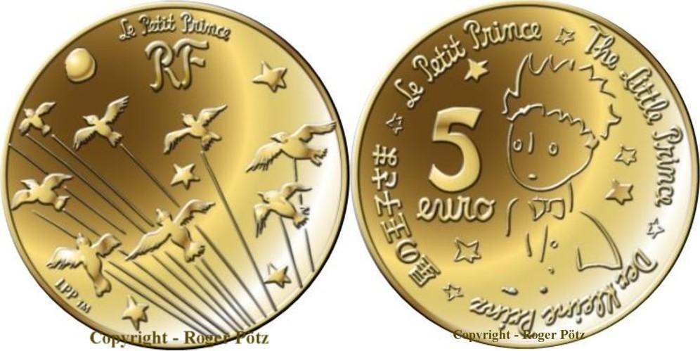 5 Euro 2015 FRANKREICH 5 Euro 2015 Kleiner Prinz Gold PP polierte Platte ( PP )
