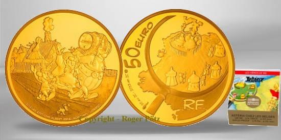 50 Euro 2013 FRANKREICH 50 Euro Gold 2013 Asterix PP OVP PP ( polierte Platte )