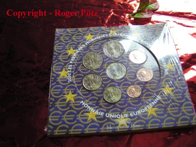 3,88 Euro 2002 Frankreich Kursmünzensatz KMS 2002 stempelglanz OVP stgl.