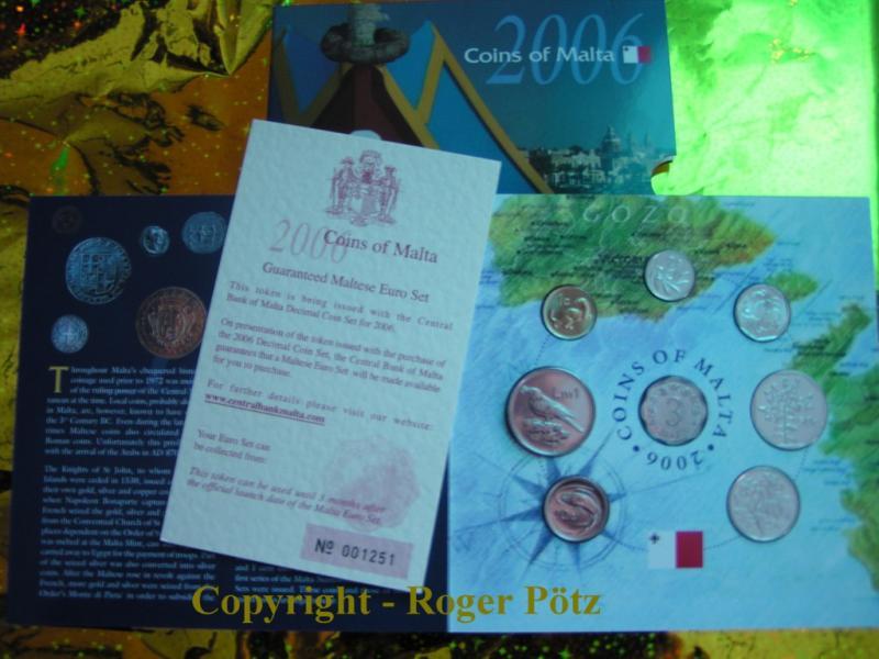 1,93 Malta Lire 2006 Malta Kursmünzensatz 2006 Malta st mit 3 Mils Stück - Auflage nur 15.000 Ex. - st