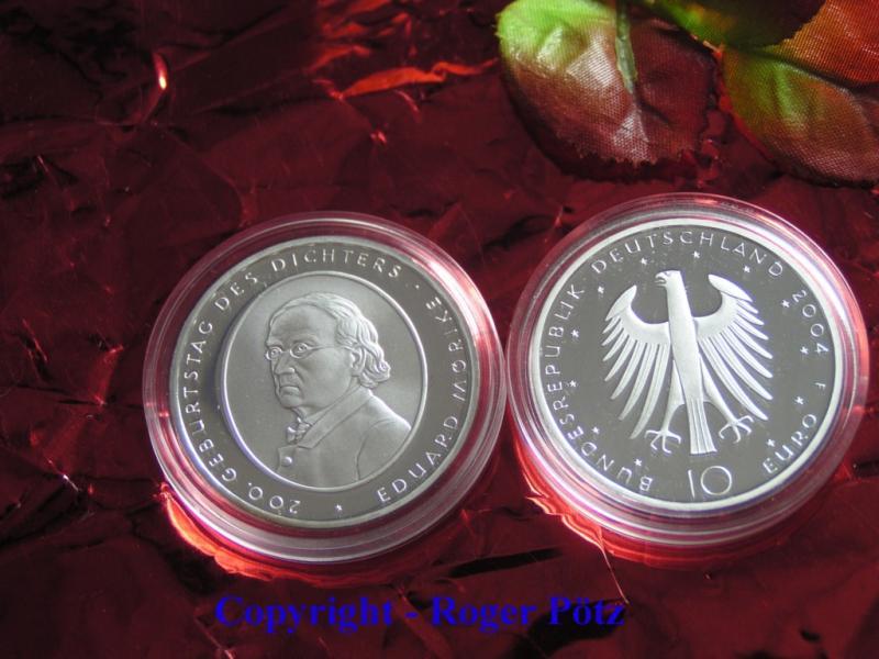 10 Euro 2004 Bundesrepublik Deutschland 10 Euro 2004 Eduard Mörike PP polierte Platte ( PP )