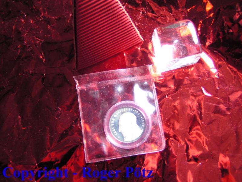 5 Mark 1989 DDR 5 M 1989 Carl von Ossietzky PP originalverpackt PP ( polierte Platte ) OVP