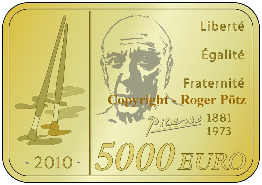 5.000 Euro 2010 Frankreich 5.000 Euro 2010 Picasso 1 kg Gold PP nur 29 Ex. Auflage PP