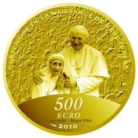 500 Euro 2010 Frankreich 500 Euro 2010 Gold 5 Unzen Feingold Mutter