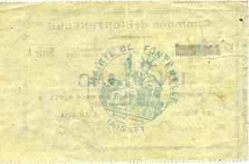 21.6.1915 FRANZÖSISCHE NOTSCHEINE Fontenelle (02). Billet. 1 franc 21.6.1915, série A vz