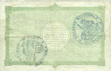 22.9.1915 FRANZÖSISCHE NOTSCHEINE Fourmies (59). Ville. Billet. 10 francs 22.9.1915, 2e série ss+