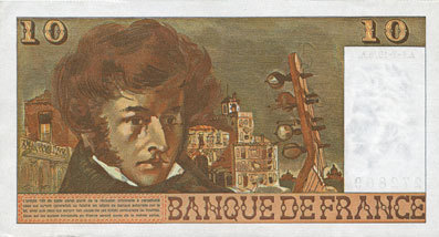 1.7.1976 BANKNOTEN DER BANQUE DE FRANCE Banque de France. Billet. 10 francs, Berlioz, 1.7.1976 vz+