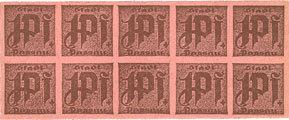 DEUTSCHLAND - NOTGELDSCHEINE (1914-1923) K -Z Passau, Stadt, billets, 10 x 1 pf n. d. Carton rosé I