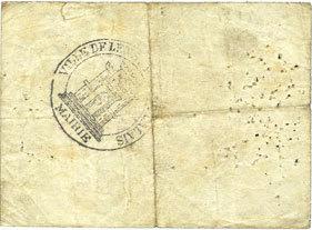 1914-11-14 FRANZÖSISCHE NOTSCHEINE Lens (62). Ville. Billet. 5 francs 14.11.1914, série A B à s