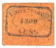 FRANZÖSISCHE NOTSCHEINE Lens (62). Ville. Billet. 5 centimes. Au revers, cachet de la Banque de France avec le n° 4309 s+