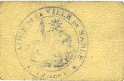 27.8.1915 FRANZÖSISCHE NOTSCHEINE Marle (02). Ville. Billet. 5 centimes 27.8.1915 s-ss