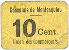 FRANZÖSISCHE NOTSCHEINE Montesquiou (32). Union des Commerçants. Billet. 10 centimes s