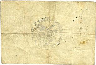1914-11-25 FRANZÖSISCHE NOTSCHEINE Montigny-en-Gohelle (62). Ville. Billet. 5 francs 25.11.1914, n° planche 20.449, série RE s