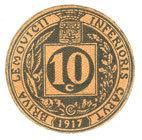1917 FRANZÖSISCHE NOTSCHEINE Brive (19). Union Commerciale. Billet. 10 cmes 1917 I