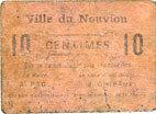 FRANZÖSISCHE NOTSCHEINE Le Nouvion (02). Ville. Billet. 10 centimes s