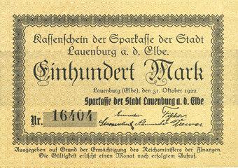 1922 10 31 deutschland notgeldscheine 1914 1923 k z lauenburg a d elbe sparkasse der. Black Bedroom Furniture Sets. Home Design Ideas