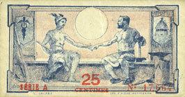 1.6.1920 FRANZÖSISCHE NOTSCHEINE Pyrénées Orientales (66). Syndicats Commerciaux. Billet. 25 centimes 1.6.1920, série A ss-vz