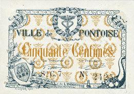 FRANZÖSISCHE NOTSCHEINE Pontoise (78). Union du Commerce et de l'Industrie. Billet. 50 centimes, série C. 7 vz+