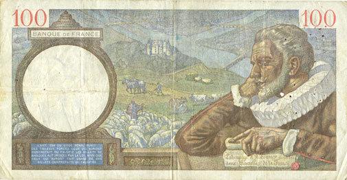14.9.1939 BANKNOTEN DER BANQUE DE FRANCE Banque de France. Billet. 100 francs Sully, 14.9.1939 s+