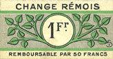 août 1914 FRANZÖSISCHE NOTSCHEINE Reims (51). Change Rémois. Billet. 1 franc août 1914 vz
