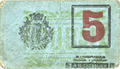 FRANZÖSISCHE NOTSCHEINE Roubaix (59). Billet. 5 centimes, armoiries (5 mm) s