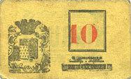 FRANZÖSISCHE NOTSCHEINE Roubaix (59). Billet. 10 centimes, armoiries (9 mm) ss