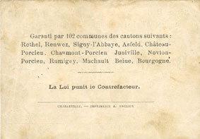 12.7.1916 FRANZÖSISCHE NOTSCHEINE Rethel (08). Syndicat d'Emission. Billet. 2 francs 12.7.1916, série B 3 Petites taches sinon ss