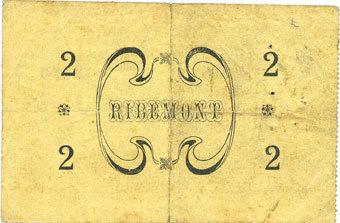 4.3.1915 FRANZÖSISCHE NOTSCHEINE Ribémont (02). Ville. Billet. 2 francs 4.3.1915 ss / s+