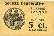 FRANZÖSISCHE NOTSCHEINE Roanne (42). Société Coopérative