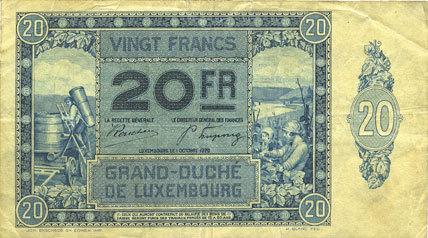 1101929 Andere Ausländische Scheine Luxembourg Billet 20 Francs