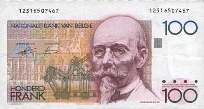 1978-81 ANDERE AUSLÄNDISCHE SCHEINE Belgique. Banque Nationale. Billet. 100 francs (1978-81) ss-vz