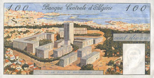 1.1.1964 ANDERE AUSLÄNDISCHE SCHEINE Algérie. Banque Centrale. Billet. 100 dinars 1.1.1964 I